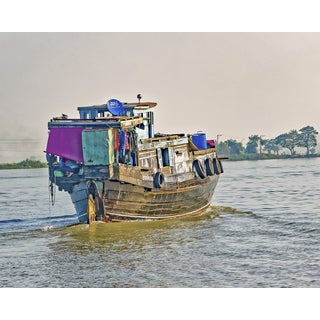 Stewart Parr 'Living and Working on Mekong River Boats, Laos' Unframed Photo Print