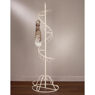 Cream Metal Spiral Ring Scarf Tree