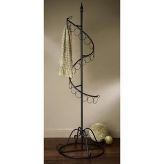 Spiral Black Metal Scarf Tree