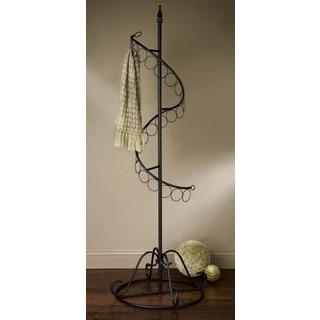 Spiral Black Metal Scarf Tree