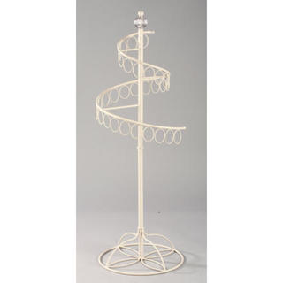 Beige Metal Oval-ring Accessory Stand