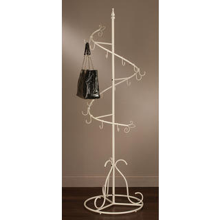 Cream Metal Spiral Purse Tree