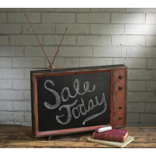 Wood/Metal Retro TV Chalkboard