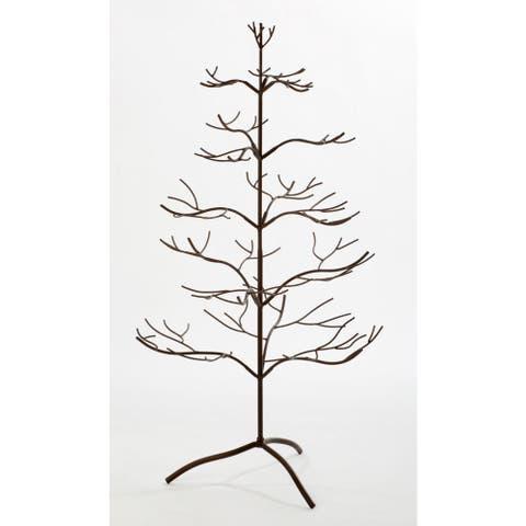Metal Brown 36-inch Ornament Tree