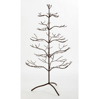 Metal Mahogany 36-inch Ornament Tree