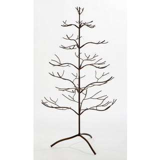 Metal Mahogany 36-inch Ornament Tree