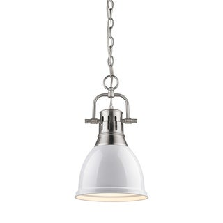 Duncan Pewter White Shade Chained Small Pendant