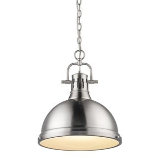 Duncan Pewter Steel 1-light Pendant With Chain