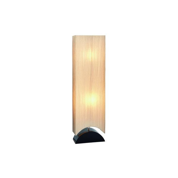 42-inch Wood Floor Lamp with Straited Shade
