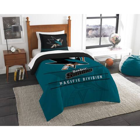 The Northwest Company NHL San Jose Sharks Draft Twin 2-piece Comforter Set
