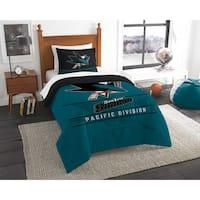 The Northwest Company NHL San Jose Sharks Draft Twin 2-piece Comforter Set