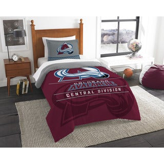 NHL Colorado Avalanche Draft Twin 2-piece Comforter Set