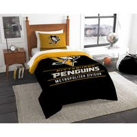 The Northwest Company NHL Pittsburgh Penguins Draft Twin 2-piece Comforter Set