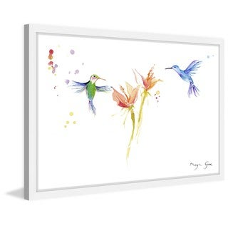 Marmont Hill - 'Hummingbirds Hover' by Maya Gur Framed Painting Print