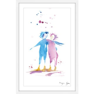 Marmont Hill - 'Couple Hug' by Maya Gur Framed Painting Print