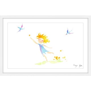 Marmont Hill - 'Girl with Birds' by Maya Gur Framed Painting Print