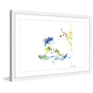 Marmont Hill - 'Girl and Turtle' by Maya Gur Framed Painting Print