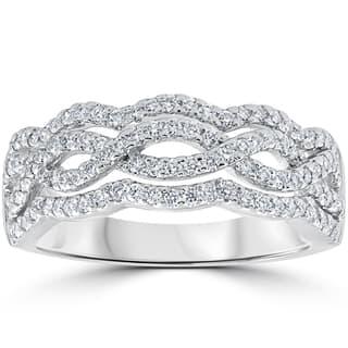 14k White Gold .67ct TDW Diamond Multi Row Infinity Anniversary Ring (F-G, VS1-VS2)|https://ak1.ostkcdn.com/images/products/13328500/P20032745.jpg?impolicy=medium