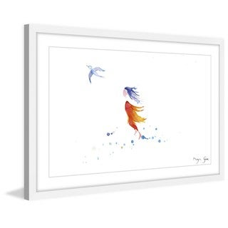 Marmont Hill - 'Free Girl' by Maya Gur Framed Painting Print