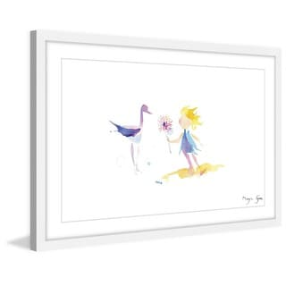 Marmont Hill - 'Crane Girl' by Maya Gur Framed Painting Print