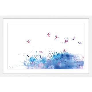 Marmont Hill - 'Birds Flying over Sea' by Maya Gur Framed Painting Print