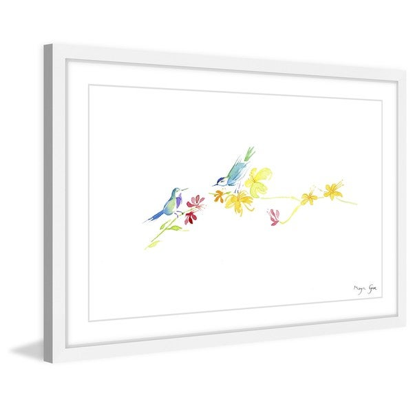 Marmont Hill - '2 Birds' by Maya Gur Framed Painting Print