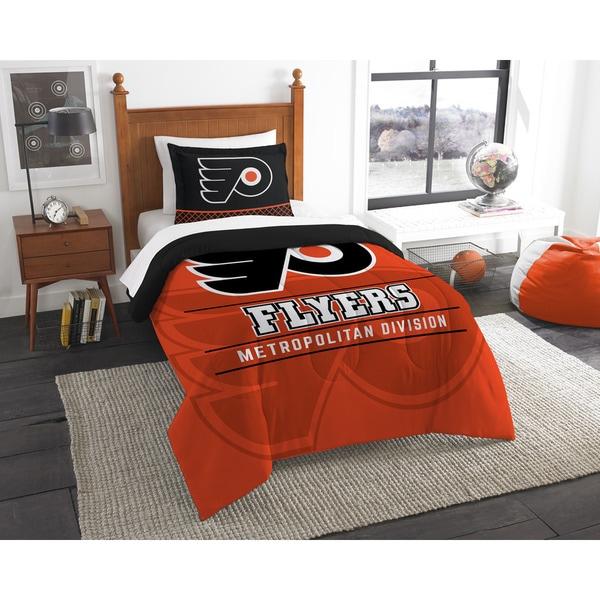 The Northwest Company NHL Philadelphia Flyers Draft Multicolor Twin 2-piece Comforter Set