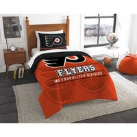 The Northwest Company NHL Philadelphia Flyers Draft Multicolor Twin 2-piece Comforter Set