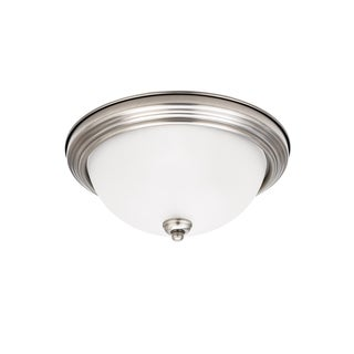 Sea Gull Ceiling Flush Mount 1 Light Antique Brushed Nickel Ceiling Fixture