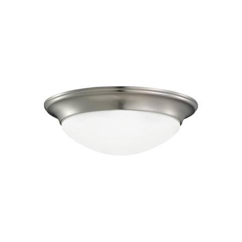 Sea Gull Nash 1 Light Brushed Nickel Ceiling Fixture