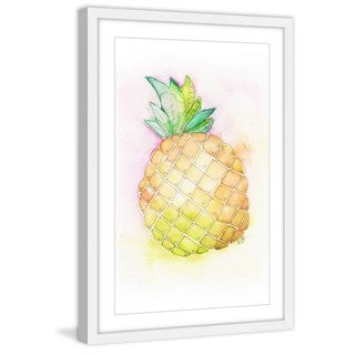 Marmont Hill - 'Pineapple Tilt' by Brilliant Critter Framed Painting Print