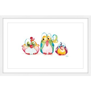 Marmont Hill - 'Three Little Birds' by Brilliant Critter Framed Painting Print