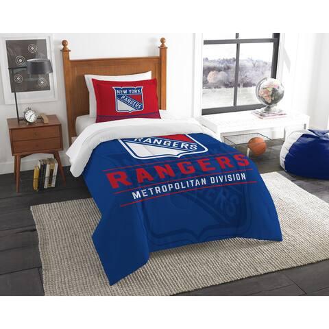 The Northwest Company NHL New York Rangers Draft Twin 2-piece Comforter Set