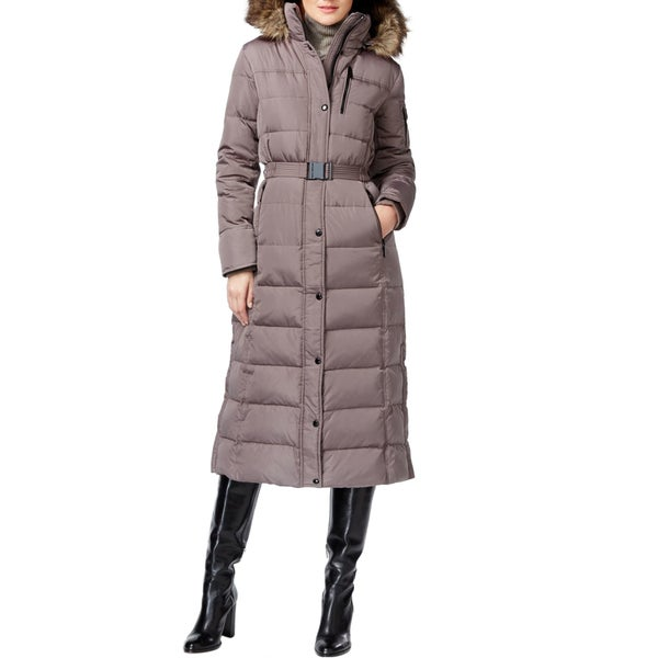 Michael Kors Women's Grey Maxi Puffer Coat