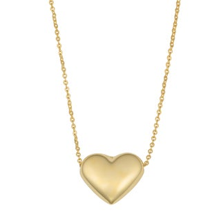 Fremada 10k Gold Heart Necklace (18 inches)