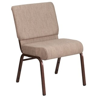 HERCULES Series 21-inch Extra Wide Fabric Stacking Church Chair with 4-inch Thick Seat - Vein Frame