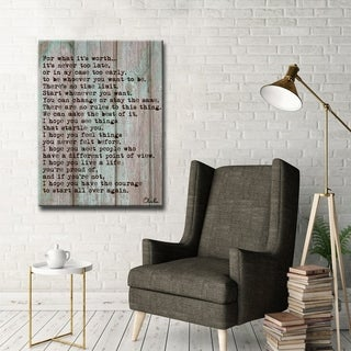 Ready2HangArt F Scott Fitzgerald - Courage by Olivia Rose Canvas Art