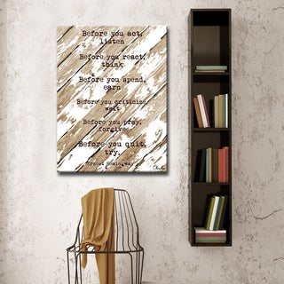 Ready2HangArt Ernest Hemingway - Before by Olivia Rose Canvas Art