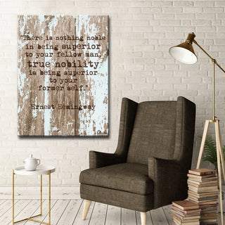 Ready2HangArt Ernest Hemingway - Nobility by Olivia Rose Canvas Art