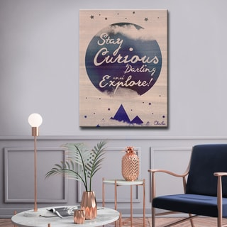 Ready2HangArt Stay Curious by Olivia Rose Canvas Art