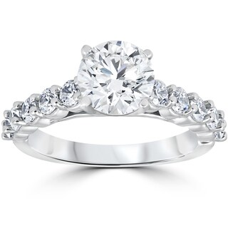 14k White Gold 2CT TDW Diamond Clarity Enhanced Engagement Ring (More options available)