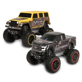 NKkok RealTree Push 'N Go Trucks with Ford F-150 & Jeep Wrangler Unlimited (Set of 2)
