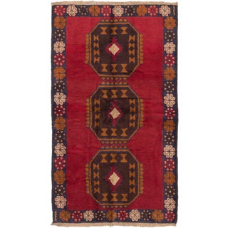 Ecarpetgallery Kazak Red  Wool Rug (3'4 x 5'10)