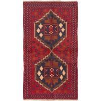 Ecarpetgallery Kazak Red Wool Rug - 3'6 x 6'3