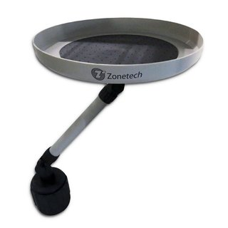Zone Tech White Car Swivel Tray and Storage Bin