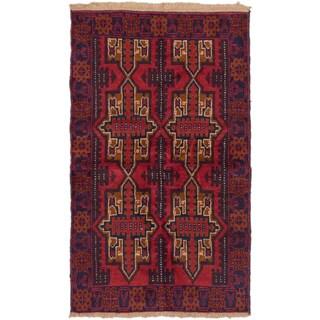 Ecarpetgallery Bahor Red Wool Rug (3'6 x 5'11)
