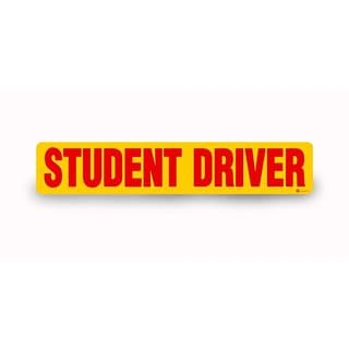 Zone Tech Red and Yellow 'Student Driver' Vehicle Bumper Magnet (3-piece Set)