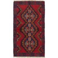 Ecarpetgallery Kazak Red Wool Rug - 3'6 x 6'1
