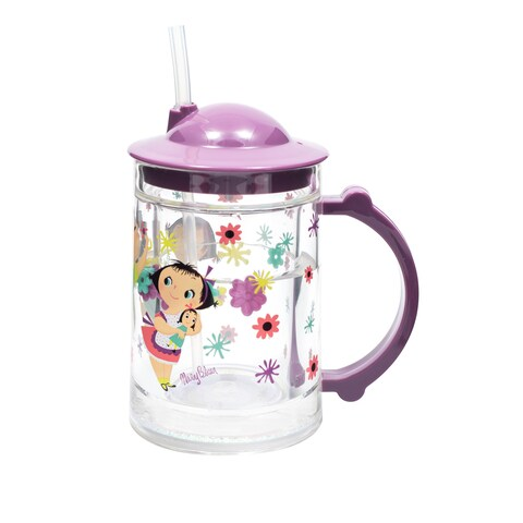 Child's 'Doll Girl' Plastic Straw Cup