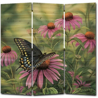 WGI Gallery Black Swallowtail Butterfly Room Screen Printed on Wood